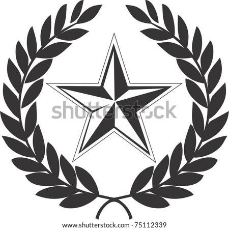 Communist  star and laurel wreath - stock vector