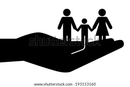 Community and Family - stock vector