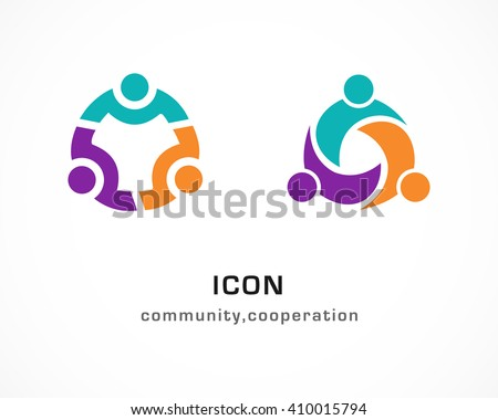 Community cooperation circular abstract people icons stock vector community cooperation circular abstract people icons sciox Images
