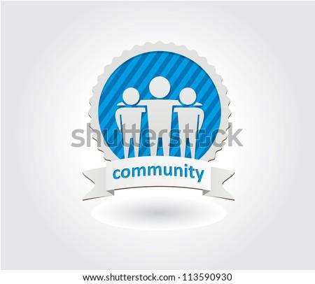 Community icon - stock vector