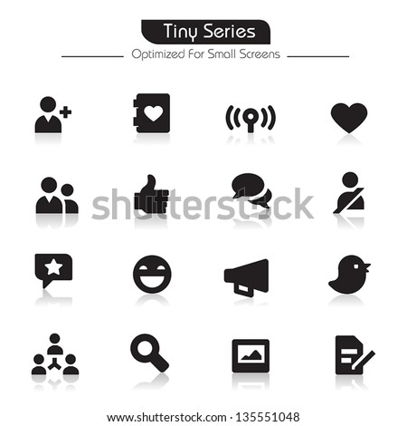 Community Icons Tiny Series - stock vector