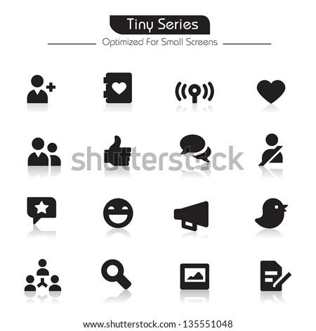 Community Icons Tiny Series - stock vector