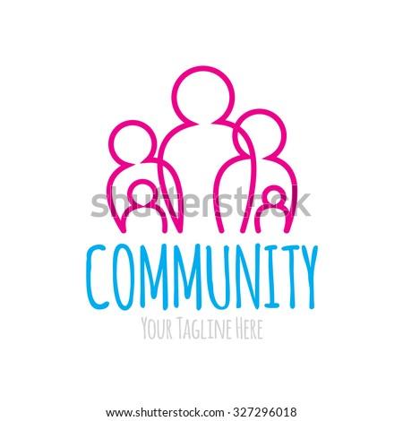 Community Logo - stock vector