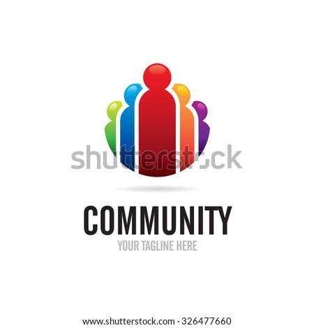Community People Logo - stock vector