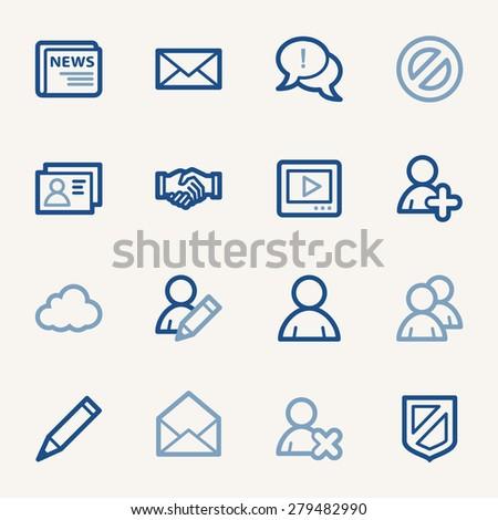 Community. Social media icons set - stock vector