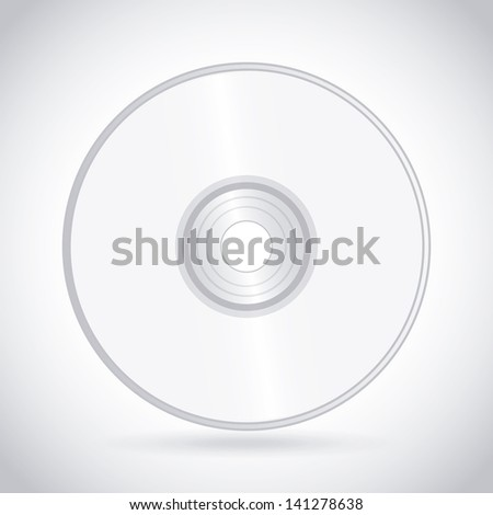 compact disc design over white background vector illustration - stock vector