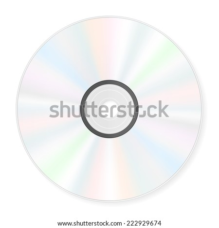 Compact disc on a white background.