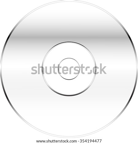 Compact disc, Vector illustration