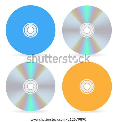 compact disk on the front and the back