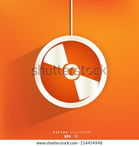 Compact disk web icon,flat design - stock vector