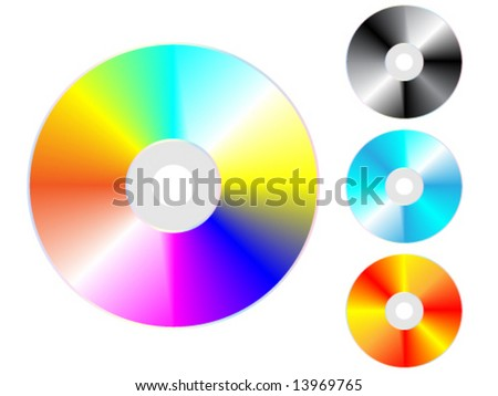 Compact disks - vector illustration