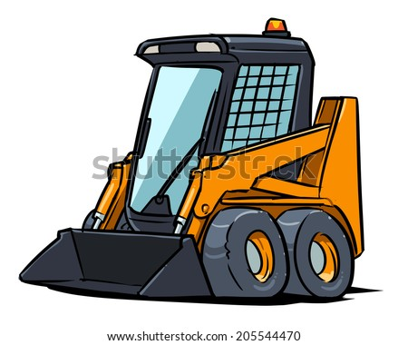 Compact wheel loader - stock vector