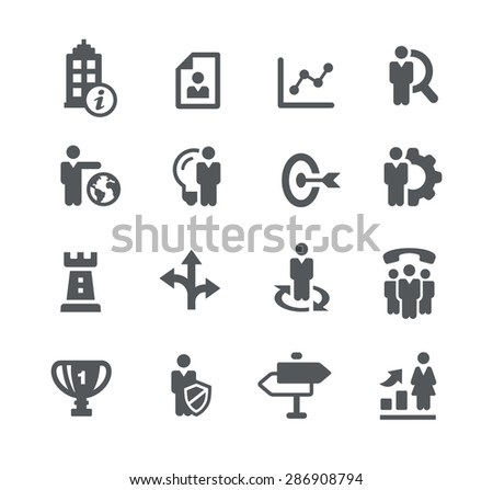 Company Goals // Business Strategies - stock vector