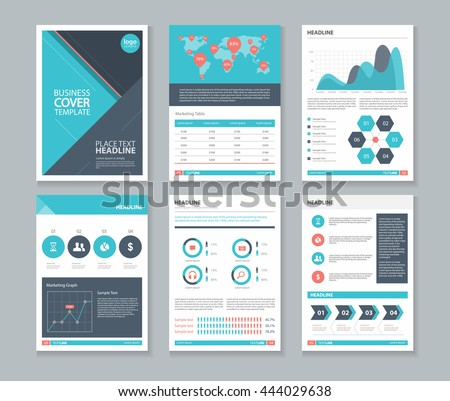 page layout company profile annual report stock vector 402063067 shutterstock. Black Bedroom Furniture Sets. Home Design Ideas