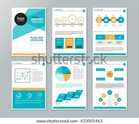 Company Profile Annual Report Page Brochure Stock Vector (Royalty ...