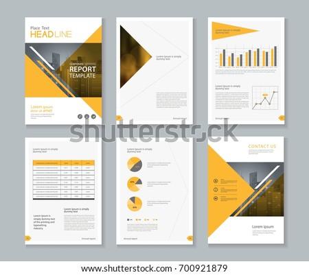 company profile brochure template - company profile annual report brochure flyer stock vector
