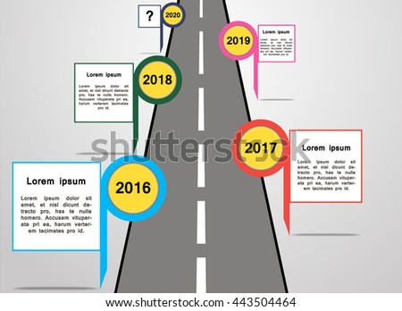 Infographic Ideas infographic year : Company Timeline Year Milestones Vector Infographic Stock Vector ...
