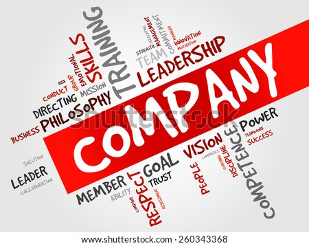 COMPANY word cloud, business concept  - stock vector