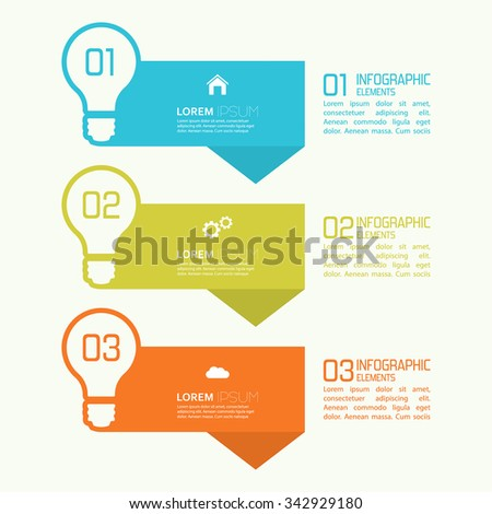 Comparative chart with banner for presentation, informative forms. Option. Infographic for  annual report, statistics, explanation. Process step by step. analyze. one two three - stock vector