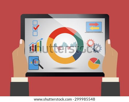 Comparing statistics in business, info graphics theme - stock vector