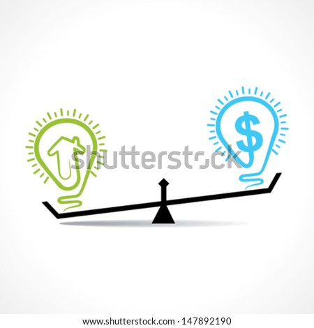 comparison of home and money but cost of home is increase vector - stock vector