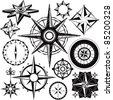 Compass Collection - stock vector