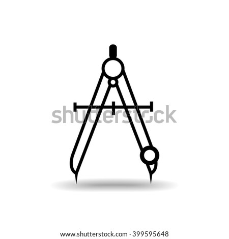 Compass flat icon isolate on white background vector illustration eps 10 - stock vector