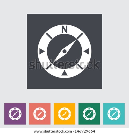 Compass flat icon. Vector illustration EPS. - stock vector