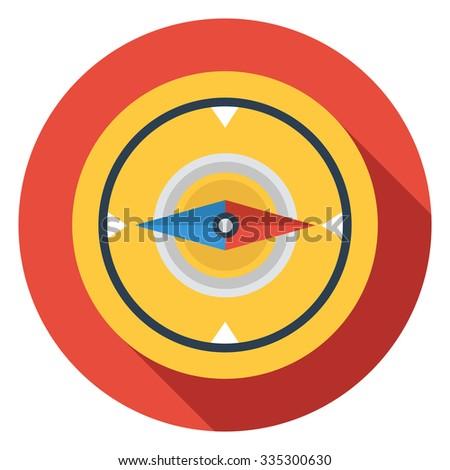 compass icon - stock vector