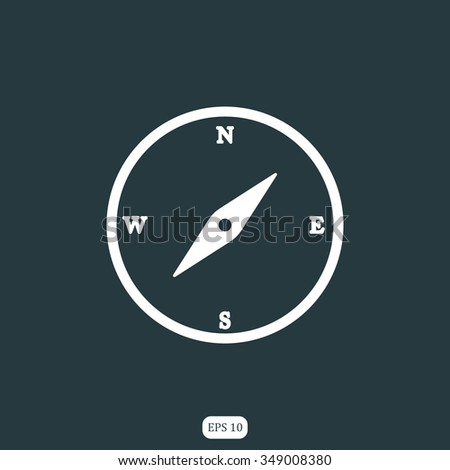 Compass Icon / Compass Icon Object / Compass Icon Picture / Compass Icon Image / Compass Icon Graphic / Compass Icon Art / Compass Icon JPG / Compass Icon JPEG / Compass Icon EPS - stock vector