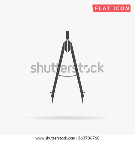 Compass Icon Vector.  - stock vector
