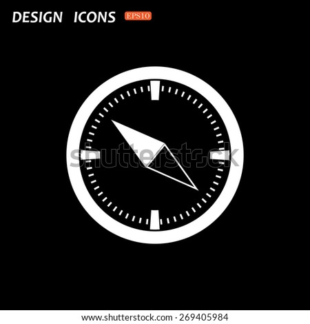 Compass . icon. vector design - stock vector