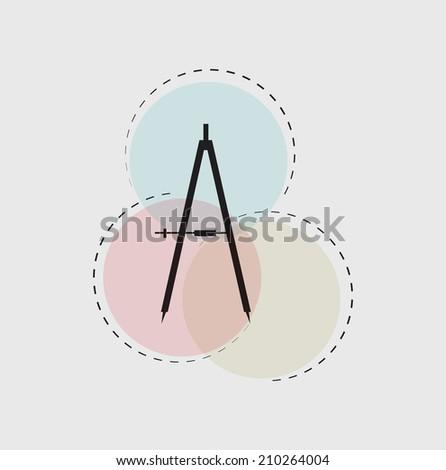 Compass icon. Vector illustration. - stock vector