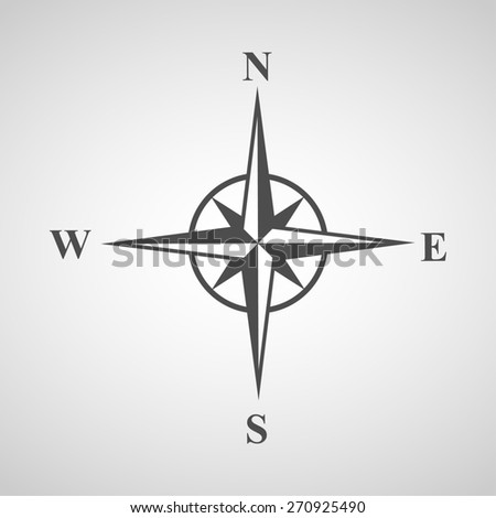 compass icons set great for any use. Vector EPS10. - stock vector