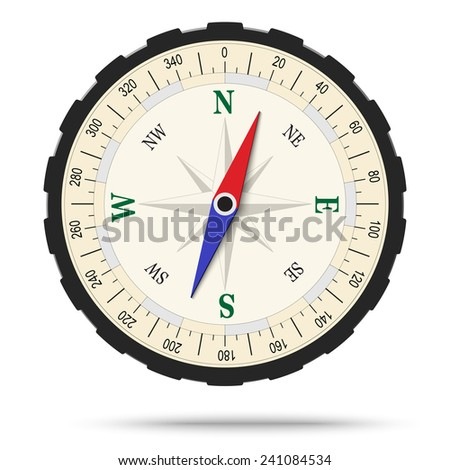 Compass isolated - stock vector