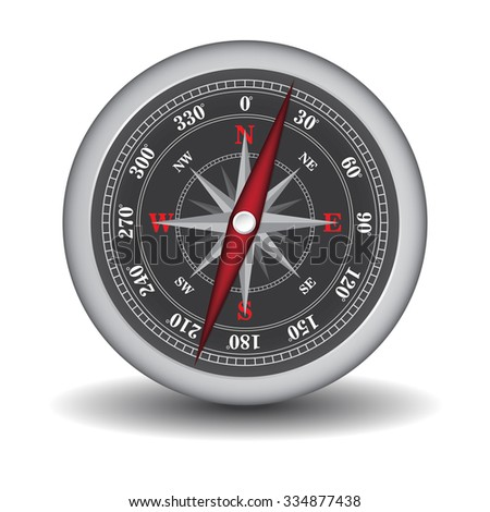 compass isolated on white background vector illustration - stock vector