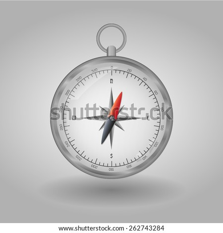Compass map direction navigation travel isolated - stock vector