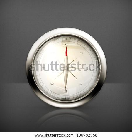 Compass, vector - stock vector