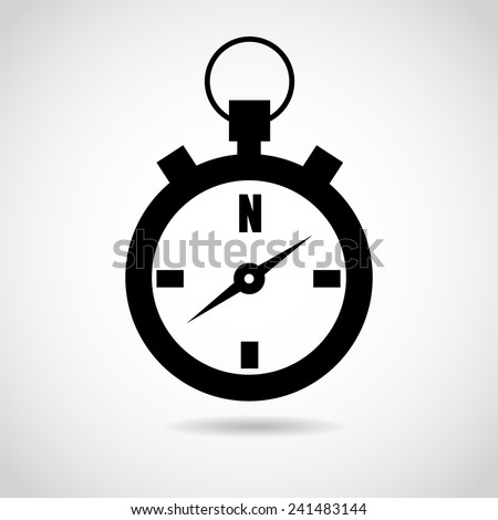 Compass vector icon isolated on white background. - stock vector