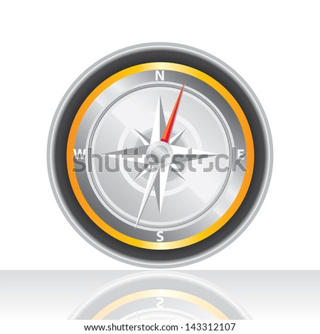 Compass vector Icon. navigation and traveling sign. travel icon