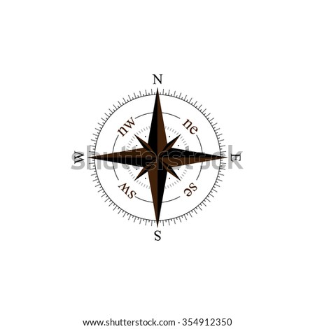 Compass vector. Marine Compass. Compass icon. - stock vector