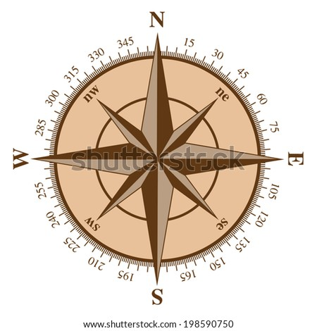 Compass wind rose. Vector illustration - stock vector