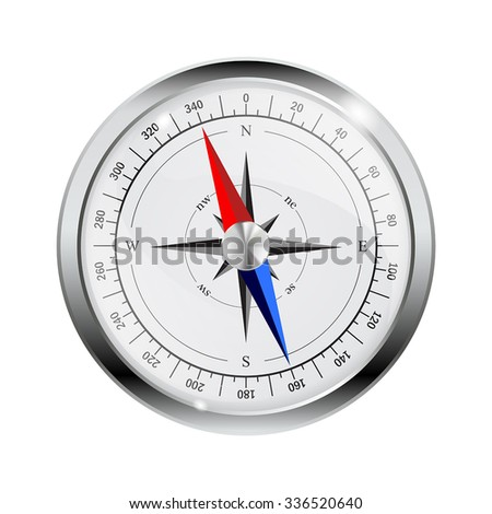 Compass. Wind rose. Vector illustration isolated on white background
