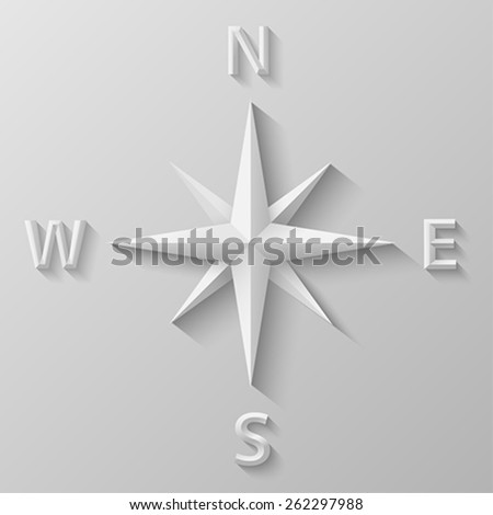Compass with bevel - stock vector
