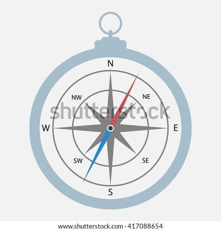 Compass with windrose.Compass Icon Vector. Compass Icon Picture. Compass Icon Image. Compass Icon Graphic. Compass Icon Art. Compass Icon JPG. Compass Icon EPS. Compass Icon AI. Compass Icon Drawing - stock vector