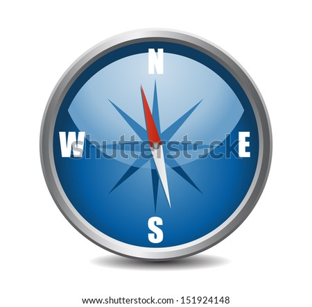 Compass xxl icon isolated on white background. VECTOR illustration. - stock vector
