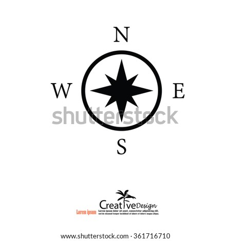 Compasses icon.compass icon with map pointer.vector illustration.