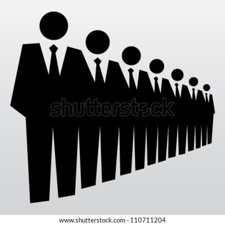 Competition and leadership in work concept. Vector illustration - stock vector