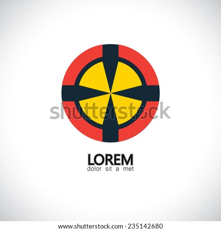 competition & challenge, planning, excellence - concept vector. This graphic also represents goals & targets, human aspirations, thinking ahead, abstract target icon, symbol of efficiency, perfection - stock vector