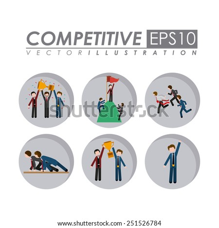 Competition design over white background, vector illustration. - stock vector